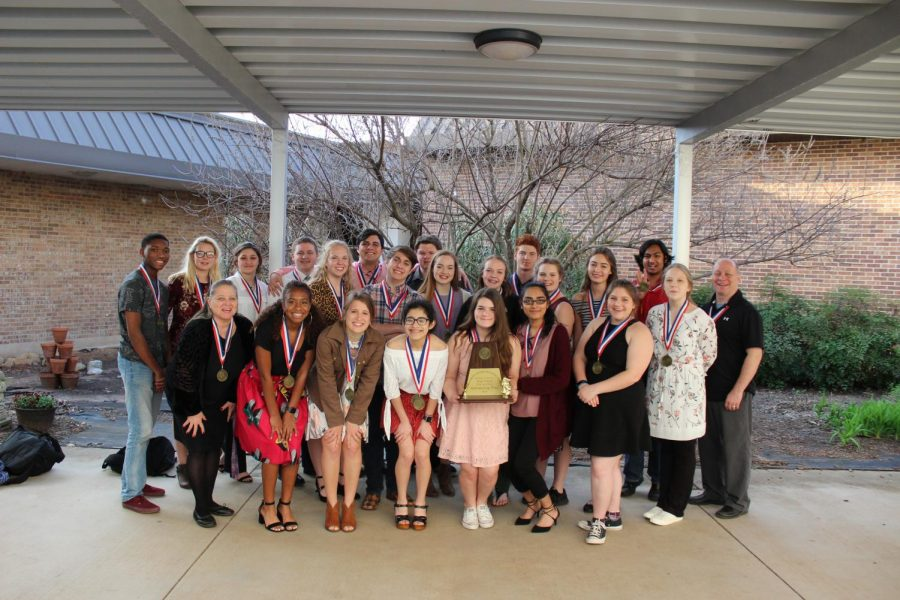 ONE ACT PLAY ADVANCES TO BI-DISTRICT
