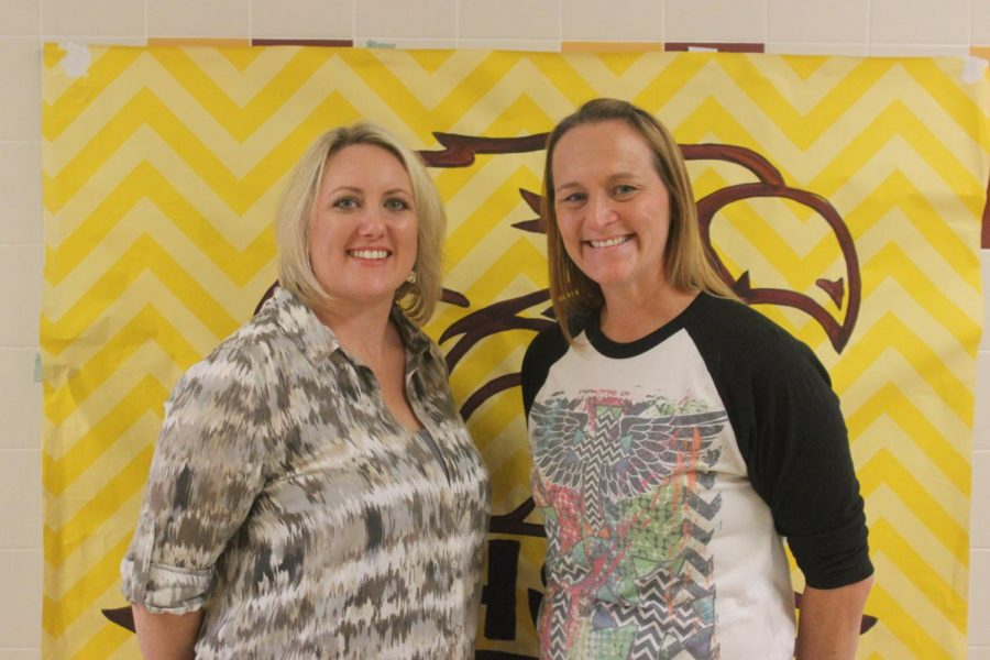 Rebecca Watson (left) is the new Spanish 1 teacher, and Elizabeth Collier (right) is the new AP Chemistry, IPC, and Chemistry teacher. Photo by Abbie Cunningham.