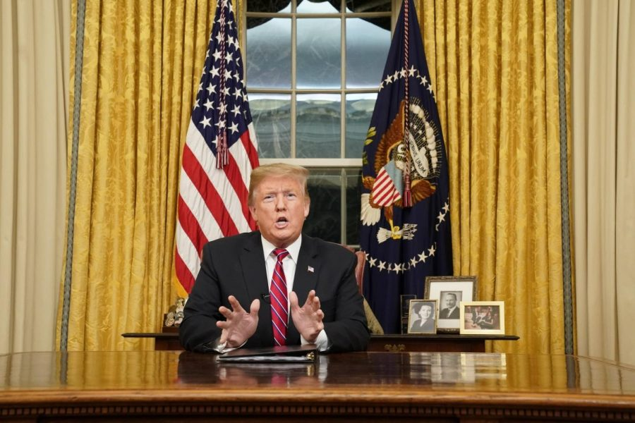 Trump gives his Oval Office address on January 8.
