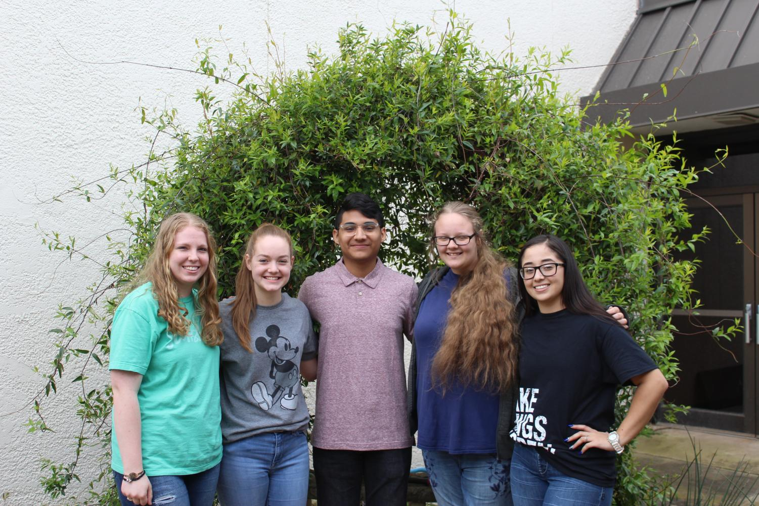 Competing in State UIL Academics on May 3: Erin Rachel, Anna Kaye Williams, Noe Soto, Abbie Cunningham, Naydelin Espinoza.