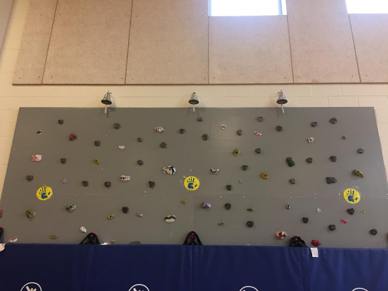 The Intermediate students tackle rock climbing during obstacle course.