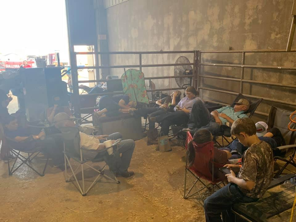 FFA members try to get rest during stock show season.