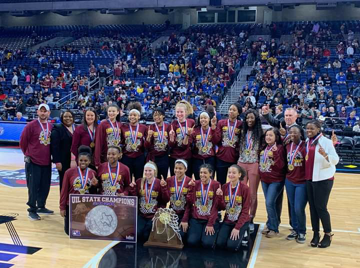 State+Champions+Lady+Eagles+basketball+team.+Photo+contributed+by+FISD.