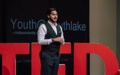 Senior Harpreet (Robby) Walia speaks at a TED Talk event in Southlake.